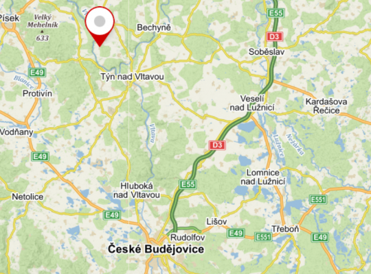 Doubrava - mapa CB